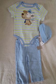 First Impression Infant Girl Bodysuit Dress Size 3 6 Months Striped