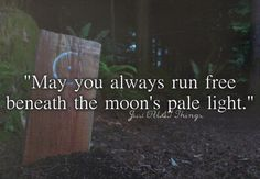 """May you always run free beneath the moon's pale light."" - Just OUAT things"