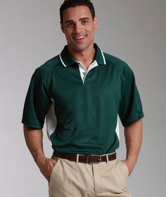 Charles River Apparel 3810 Men's Color Blocked Wicking Polo  #colorblockpolo #menspolo #wickingpolo #charlesriverapparel