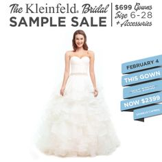 Kleinfeld Sample Sale February 4