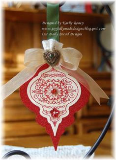 Cherry Heirloom Ornament - ODBDSLC86 by rosekathleenr - Cards and Paper Crafts at Splitcoaststampers