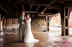 Photo of the Day! Bride and Groom Underneath Railway at Station 67 in Columbus, Ohio.   #Station67 #ChillicotheWeddingPhotographer #ColumbusWeddingPhotographer #Station67Wedding #railwayunderpass #brideandgroom