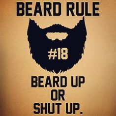 Beard rule no. 18: ""