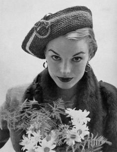 Cuffed Roller Hat - Vintage 1950s Crochet Pattern - PDF eBook, Digitally Restored