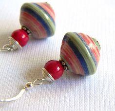 Beautiful paper bead earrings