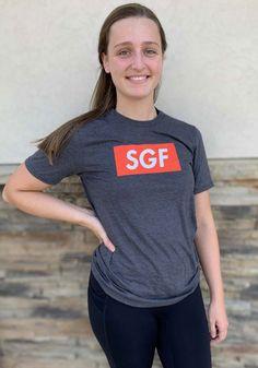 Springfield Heather Dark Grey SGF Boxy Short Sleeve T-Shirt - 22784787