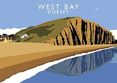 West Bay, Dorset Art Print (A3) Chequered Chicken https://www.amazon.co.uk/dp/B06XTNX3TH/ref=cm_sw_r_pi_dp_x_pF82ybY538TKV