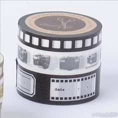 Washi Tape-Masking Tape-Camera-Black-Set of 3 rolls-Washi Tape-Deco Tape-Embellishment