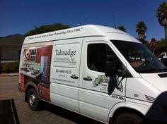 Talmadge Construction, Inc. vehicle wrap (passenger side)