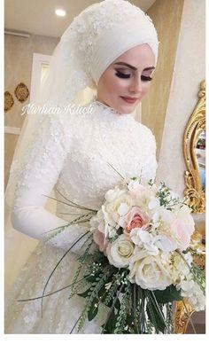 Hijabi Wedding, Muslimah Wedding Dress, Arab Wedding, Muslim Wedding Dresses, Muslim Brides, Bridal Dresses, Bridesmaid Dresses, Muslim Couples, Fairytale Bridal