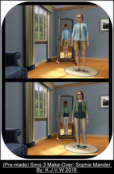 https://flic.kr/p/Ffcojr   (Pre-Made) Sims Make-Over   Sophie Mander  A townie (NPC Sim) from the Sub-neighboorhood of Sims University (shipped with The Sims 3 University Life),  The Sims 3 Franchise belongs to EA/Maxis  I didn't had any commercial purpose to make this, just for fun.