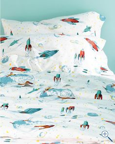My goodness awesome. Rockets Percale Bedding from Garnet Hill.