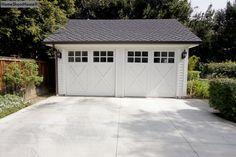 New garage doors at existing garage