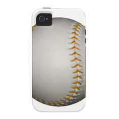 Baseball / Softball w/Orange Stitching iPhone 4/4S Case