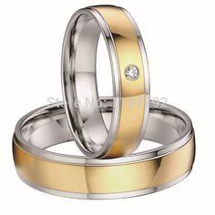 18 К плакировка золота его и ее здоровья титана стали свадебные обручальные кольца, обручальные кольца пар наборы для мужчин и женщин 2015