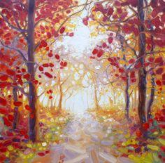 """Saatchi Art Artist: Gill Bustamante; Oil 2014 Painting """"king of autumn"""""""
