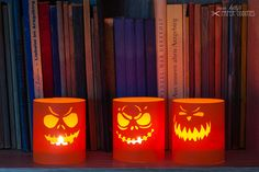 halloween in dawanda  Halloween Decorations – Construction paper »Halloween lantern« – a unique product by misskittys on DaWanda
