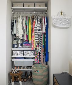 Keep off-Season Clothing out of Sight | Your closet may have more space than you realize--find out how to maximize it with our storage tips