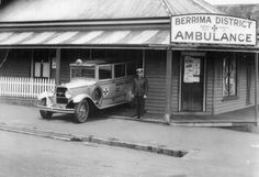 First ambulance station in Bowral on the corner of  Bong Bong and Boolwey Streets. .