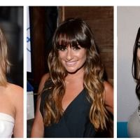 Pictures : Dark Brown Hair with Caramel Highlights - Lea Michele Caramel Blonde Ombre Hair Color Long Wavy Haircuts, Hairstyles With Bangs, School Hairstyles, Chic Hairstyles, Ombré Hair, Her Hair, Hair Cut, Hair Bangs, Lea Michele Hair