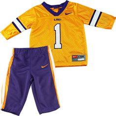 LSU Football Jersey Set #LSU #Infant #Baby #Toddler #Babyfans