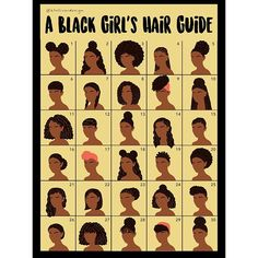 "Get up close and personal with the #ktolliverdesign fan favorite, ""A Black Girl's Hair Guide."" This high quality pic will show you every detail of the design to answer all of your questions about textures, braids, etc. There's something for everyone on this piece! . To buy a copy of your very own, click the link in my bio! Thank you so much to everyone who has shown love to this piece! You all are appreciated!"