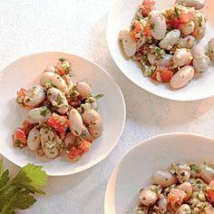 Serve with pork: Cranberry Beans with Parsley Pesto Recipe   MyRecipes.com