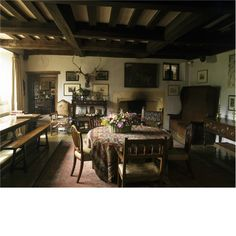 Owlpen Manor ~ The 16th century great hall at Owlpen Manor in the form it took after work by Norman Jewson in the 1920s.