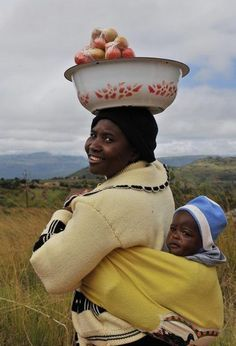 This is how African children roll ... in style on their Mama's back! BelAfrique - Your Personal Travel Planner www.belafrique.co.za