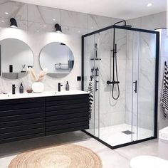 Modern bathroom design 358106607871086439 - Bathroom Inspiration // Casachicks Source by citechic Bathroom Layout, Modern Bathroom Design, Bathroom Interior Design, Bathroom Ideas, Minimal Bathroom, Bathroom Black, Bathroom Organization, Bathroom Inspo, Modern Bathroom Inspiration