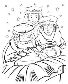 Baby Jesus Coloring Book page