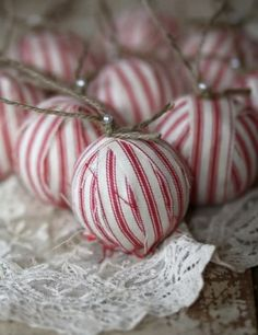 Vintage Christmas Ornaments by Adri Carroll