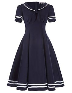 Pin Up Dresses | Pin Up Sailor Swing Dress