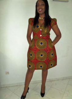 "Résultat de recherche d'images pour ""modele de robe pagne"" African Wear, African Women, African Dress, African Fashion, Ankara Fashion, African Style, One Shoulder Gown, Mini Skater Dress, Ankara Styles"