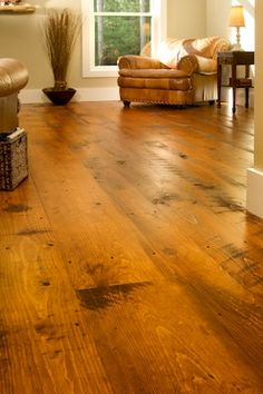 Wide plank wood floors tobacco stain dream home for Tobacco pine flooring
