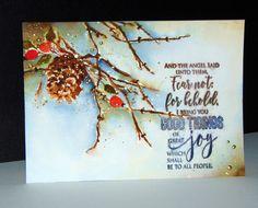 Cones & Berries 40-495 et Rejoice with Joy 30-384 de Penny Black par Micheline 'Mimi' Jourdain