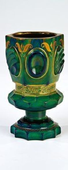 A lithyalin stone glass goblet Buquoy'sche Hütten, Georgenthal or Silberberg, circa 1835
