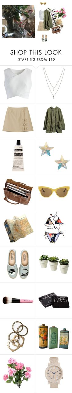 """""""something's got to give"""" by pillowfox ❤ liked on Polyvore featuring Chicwish, Eva Fehren, Aesop, Orelia, Mulberry, The Row, Zimmermann, Bobbi Brown Cosmetics, Chiara Ferragni and Too Faced Cosmetics"""