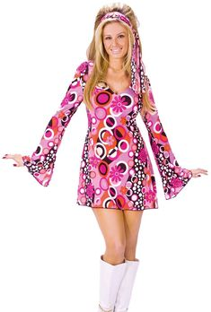 2398daf370 Feelin  Groovy 1960s 1970s Adult Women s Costume