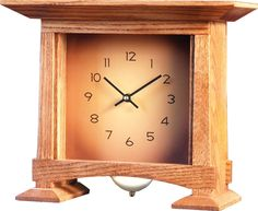 Arts and Crafts Woodworking Mantel Clock Plan