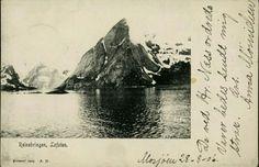 Nordland fylke Moskenes kommune i  Lofoten. Motiv av Reinebringen. Utg A.M. Stemplet 1906