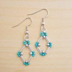 Bugle bead earrings DIY Tutorial