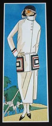 Paul Iribe - Illustration - Robe de Paul Poiret - 1924