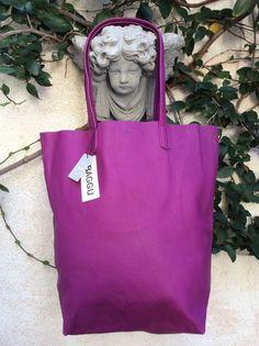 NWT BAGGU BaSiC ToTe Well Made Plum Leather Market Shopper Travel Carry On Bag #Baggu #TotesShoppers