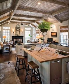 open kitchen rustic kitchen kitchen ideas farmhouse style kitchen cozy kitchen kitchen ceilings open floor plans photo credit home ideas. Interior Design Ideas. Home Design Ideas