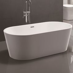 Relax and unwind in this luxurious freestanding soaking bathtub. The white finish completes the contemporary design of this soaking bathtub that would be a great addition to any bathroom. Bathtub is UPC c Contemporary Design, Modern Design, Deep Tub, Scarlett, Soaking Bathtubs, Whirlpool Bathtub, Freestanding Bathtub, Jetted Tub, Thing 1