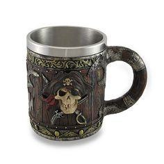 Coffee mug, beer mug, great for the pirate lover!