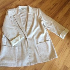 "Spotted while shopping on Poshmark: ""Linen Blazer""! #poshmark #fashion #shopping #style #Jackets & Blazers"