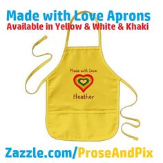 Thanks buyer ~ Happy loving! *** Made With Love Rainbow Heart Personalized Aprons for Kids @ Zazzle *** #gifts #christmas #cooking #bakings #kids #sweet #adorable #love *** http://www.zazzle.com/made_with_love_rainbow_heart_personalized_kids_apron-154800006103502049