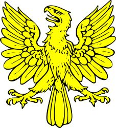 Clipart - eagle displayed